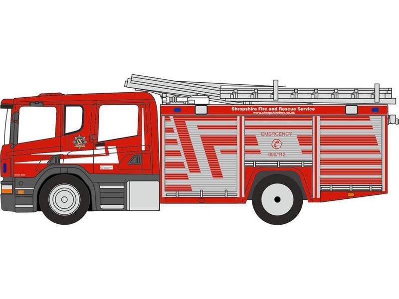 Oxford Diecast 00 gauge MAN Pump Ladder Fire /& Rescue