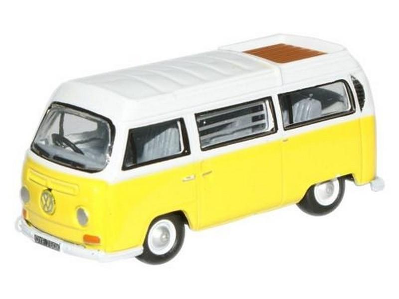 Volkswagen Bay Window Camper Closed Saturn Yellow White