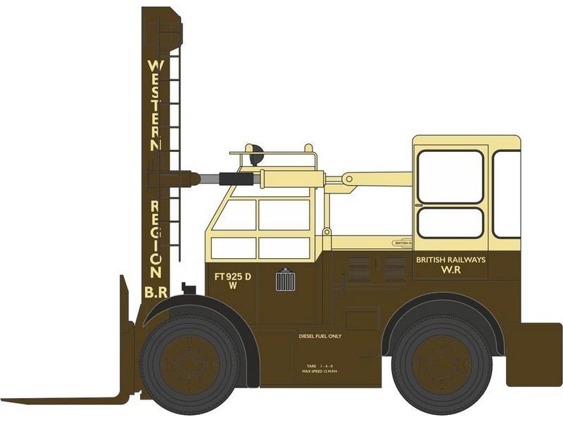 BNIB OO GAUGE OXFORD 1:76 76SDF002 SHELVOKE /& DREWRY FREIGHTLIFTER BR FORK LIFT