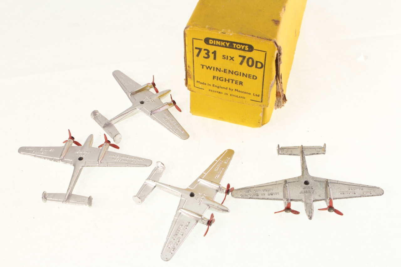 Dinky #731 - Twin Engined Fighter - Silver