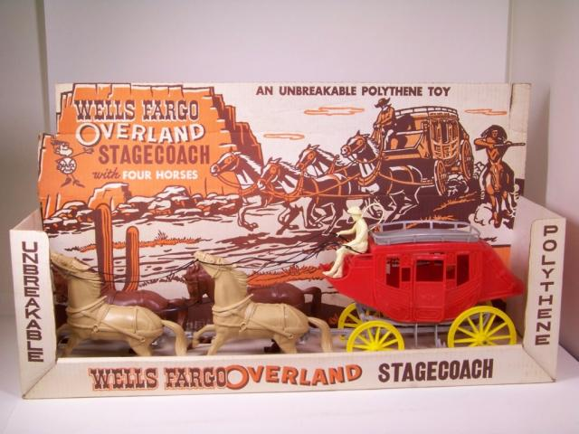Picture Gallery for Marx 1374P Wells Fargo Stagecoach