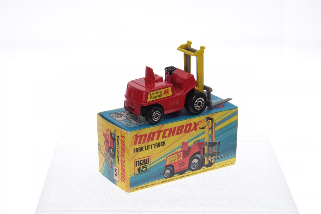 Matchbox #15e - Fork Lift Truck - Red/Yellow