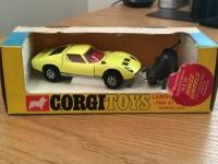 Corgi #342 - Lamborghini P400 GT Miura Fighting Bull - Yellow