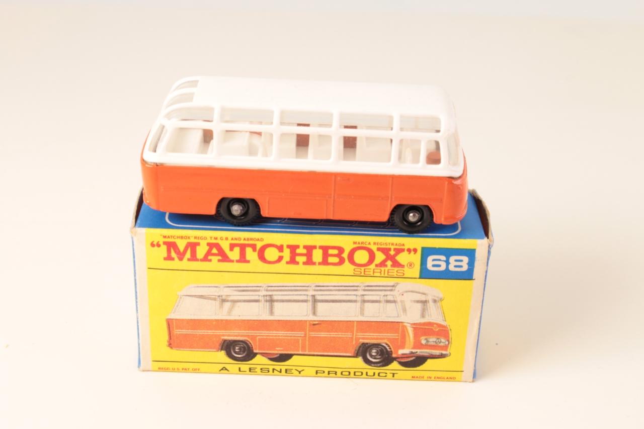 Matchbox #68b - Mercedes Coach - Orange/White (BPW)