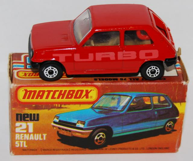 Matchbox 21f Renault 5tl Free Price Guide Review