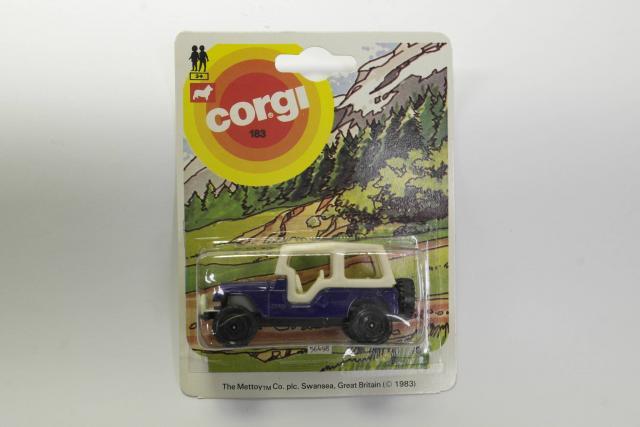 Corgi Juniors #183 - Jeep - Blue/White