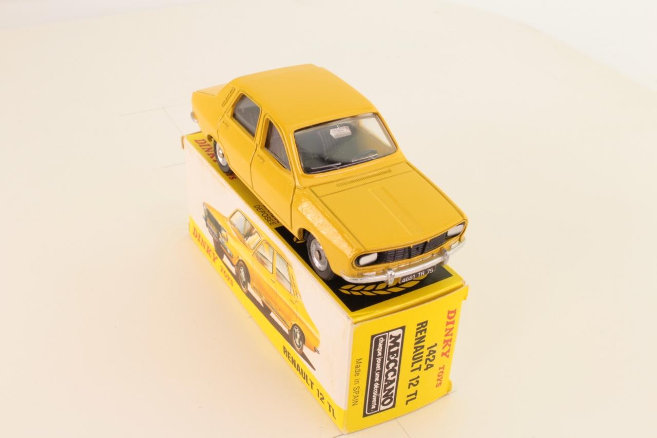 Dinky #1424 - Renault 12 TL - Yellow/Black