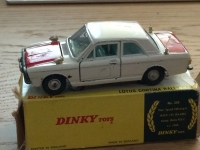 Dinky #205 - Lotus Cortina Rally - White/Red (Silver Aerials)