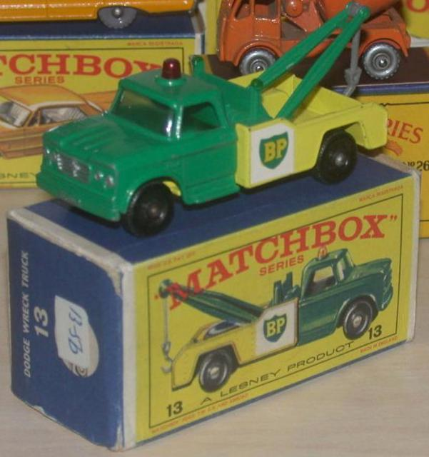 Matchbox 13d, Dodge Wrecker - Free Price Guide & Review