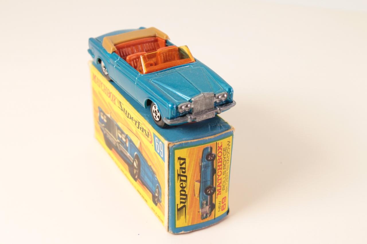 Matchbox #69c - Rolls Royce Silver Shadow - Blue/Black base