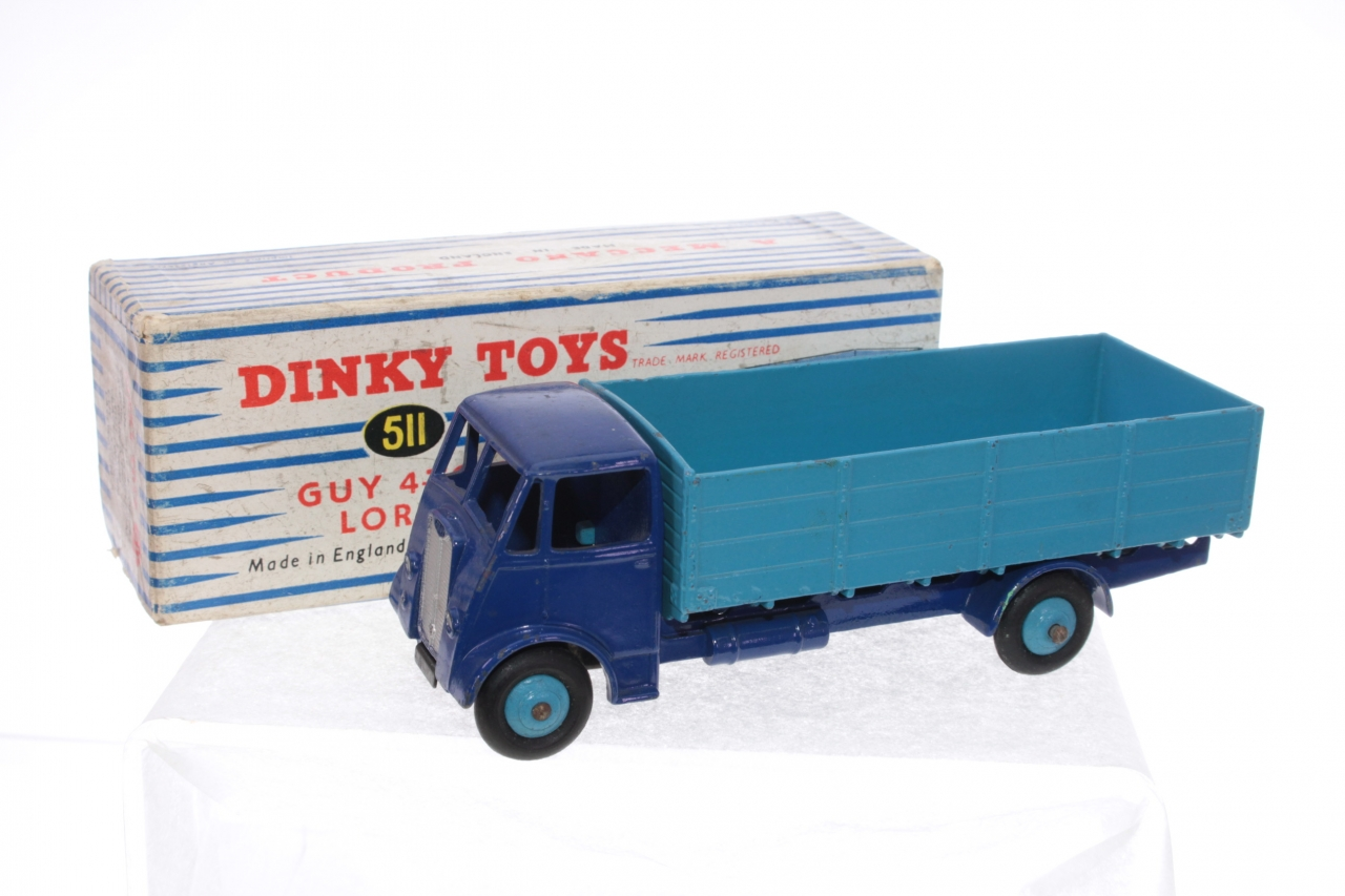 Dinky #511 - Guy Warrior Lorry - Blue/Blue (1st Type)