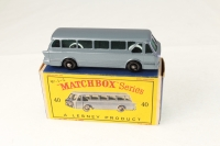 Matchbox #40b - Leyland Tiger Coach - Blue
