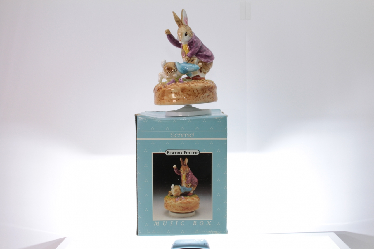 Picture Gallery for Schmid 62057 Peter Rabbit and Mr Rabbit Music Box