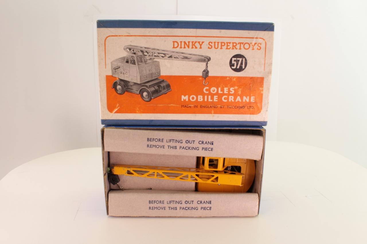 Dinky #571 - Coles Mobile Crane - Yellow/Black