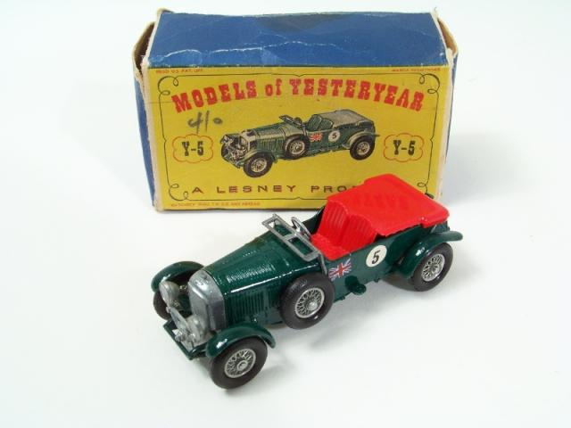 "Box Matchbox Moy /""1929 4.5 litre Bentley/"" y5-2 nuevo models of Yesteryear"