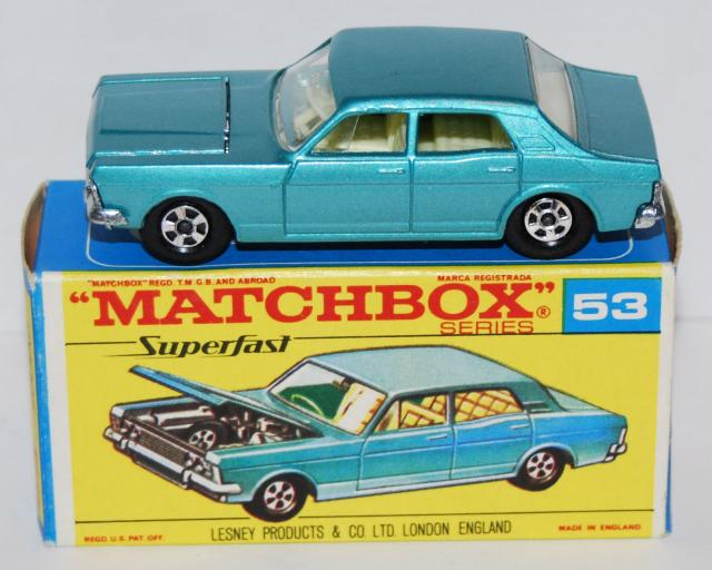 Picture Gallery for Matchbox 53c Ford Zodiac Mk4