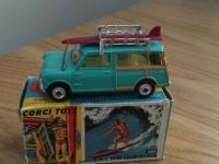 Corgi #485 - Mini Countryman with Surfer - Green
