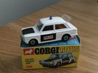 Corgi #506 - Sunbeam Imp Police Car - Black/White