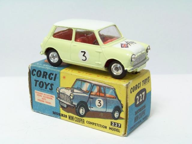 Corgi 227 Mini Cooper Free Price Guide Review