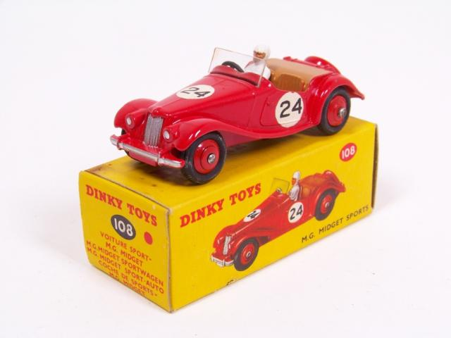 Picture Gallery for Dinky 108 MG Midget (Competition)