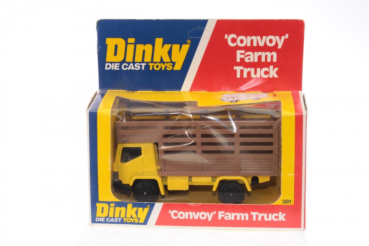 Dinky #381 - Farm Truck - Yellow/Brown