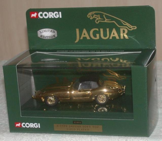 Boxed Corgi Classics 02701 Jaguar E-Type Open Top Dark Met Green