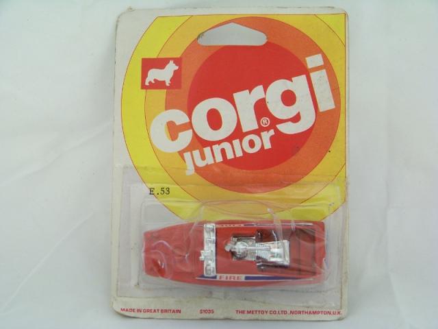 Corgi Juniors #E53 - Fire Boat - Red/Blue