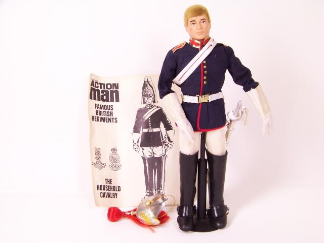 """VINTAGE /""""ACTION MAN/"""" BLUES /& ROYALS CARTOUCHE WITH BADGE"""
