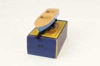 Matchbox #48a - Meteor Sports Boat - Brown/Blue (GPW)