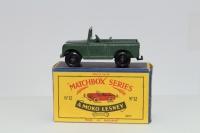 Matchbox #12b - Land Rover Series 2 - Green (BPW)