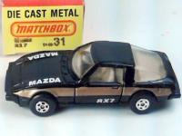 Matchbox No 31 Mazda RX7  White Color 1980 MOC Childworld Price Sticker 10