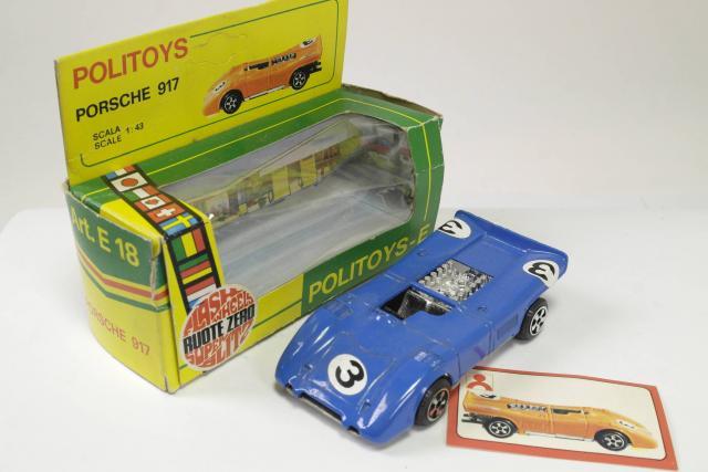 Picture Gallery for Politoys E18 Porsche 917