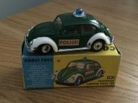 Corgi #492 - VW 1200 European Police - Green/White