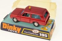 Dinky #195 - Range Rover Fire Chief - Red (late issue)