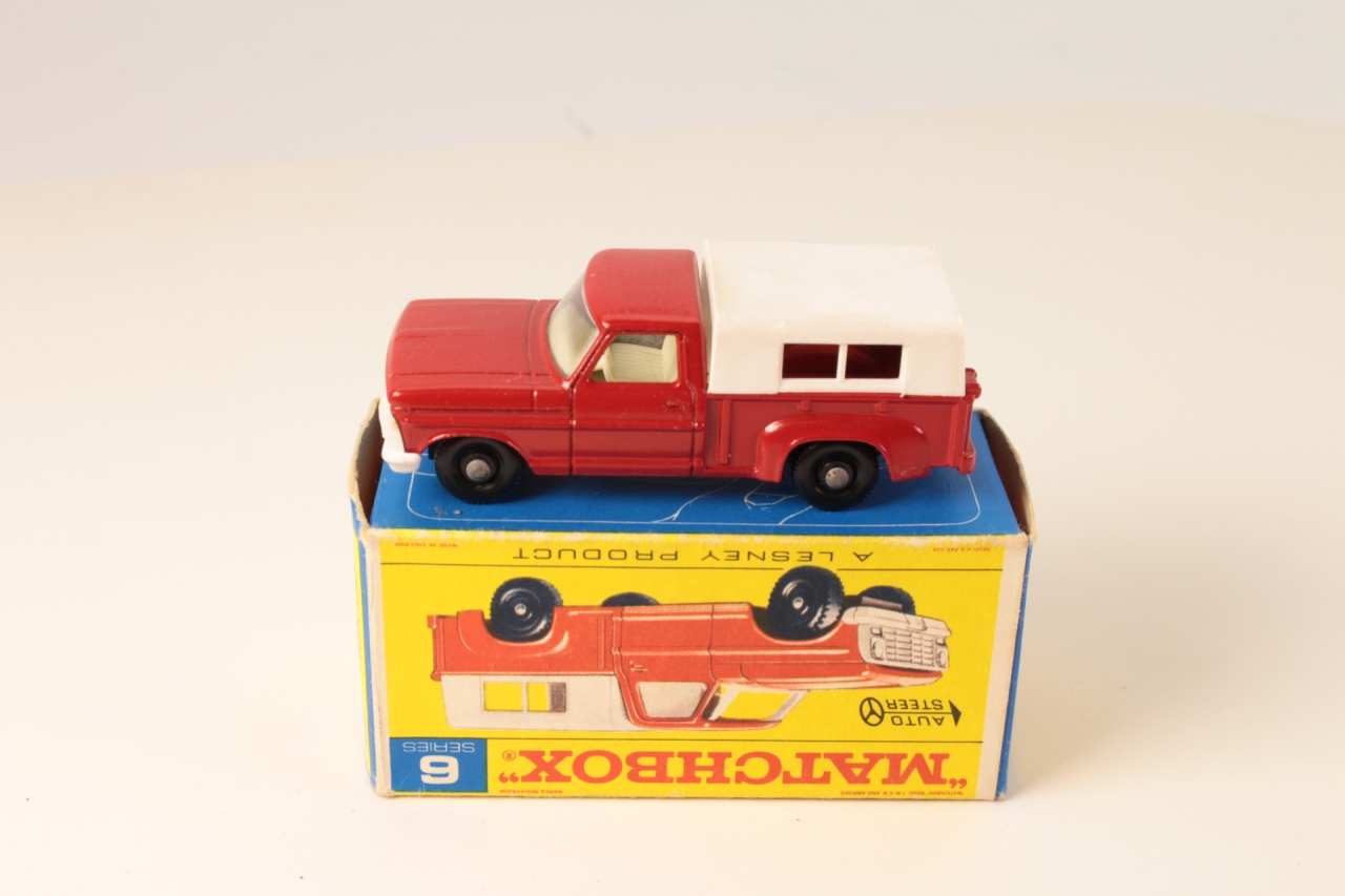 Matchbox #6d - Ford Pick Up - Red