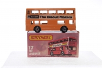 Matchbox #17f - Londoner Bus (Jacobs Biscuits) - Yellow