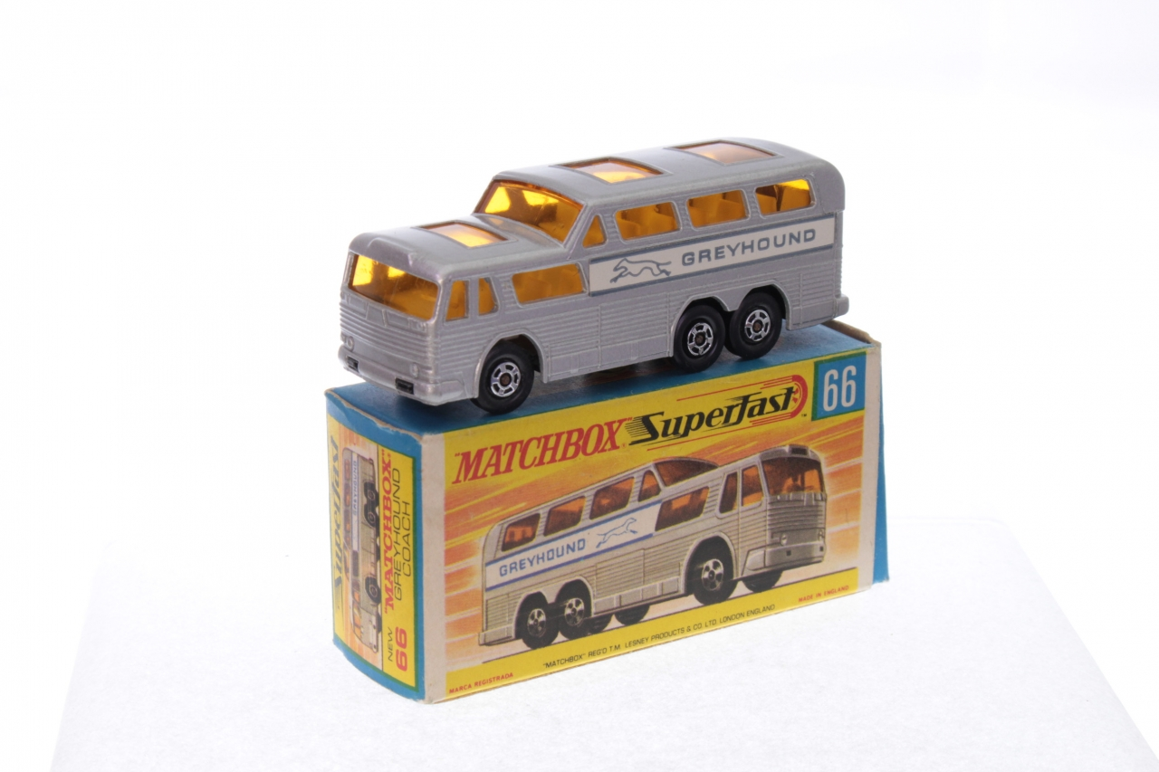 Blechspielzeug Vintage 597mS Japanisch Blech Reibung New York Greyhound Bus