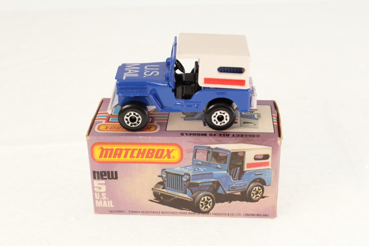 Matchbox #5h - US Mail Truck - Blue/white