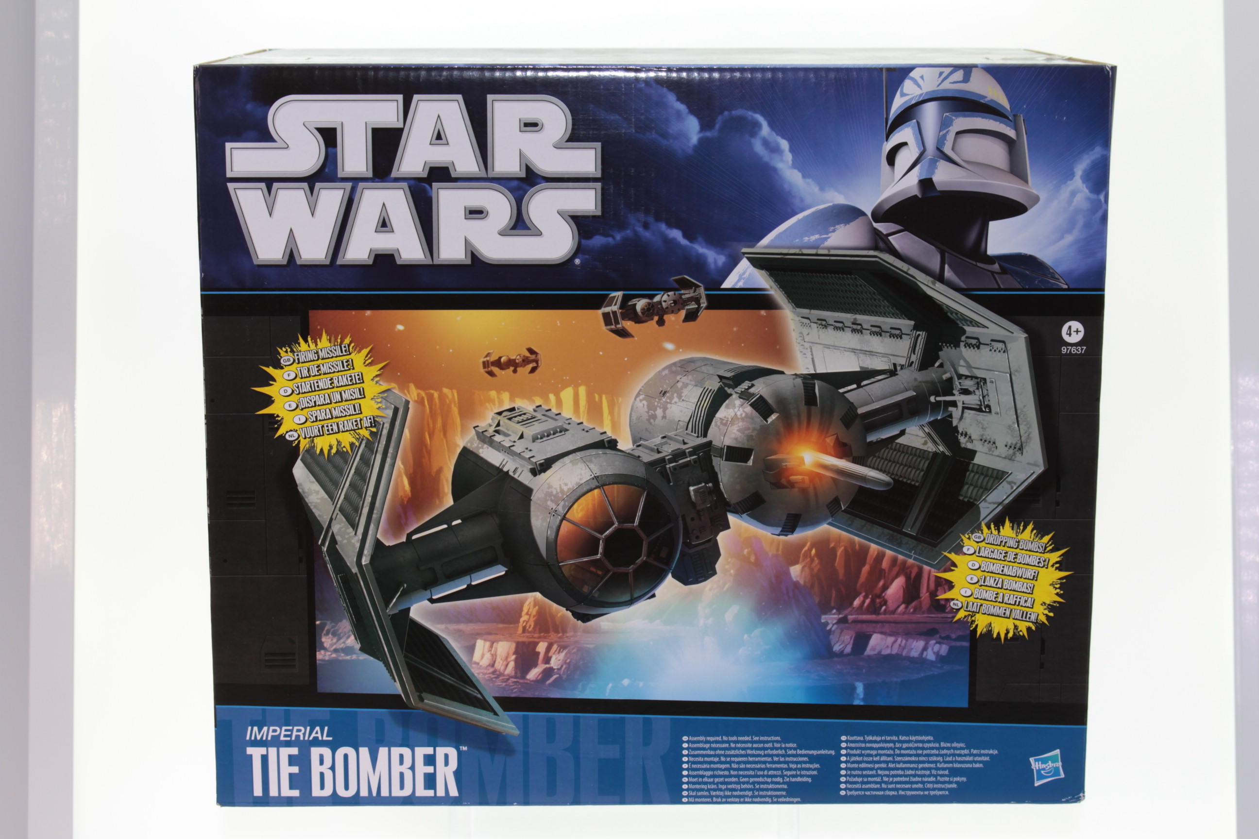 STAR WARS ACTION FLEET SERIES  IMPERIAL TIE BOMBER W// MISSILE /& 2 MINI FIGURES