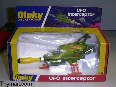 Dinky Toys #351 Shado UFO Interceptor REPRO misil