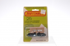 Matchbox #25 - Flat Car and Container - NYK - Card Pack