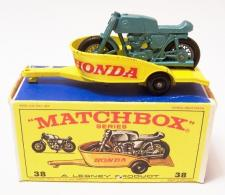 Picture Gallery for Matchbox 38c Honda Motorcycle and Trailer