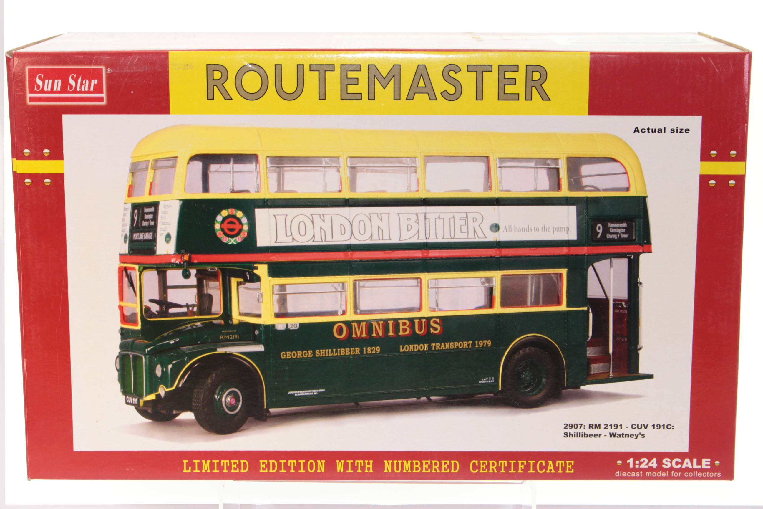 Oxford Diecast 76rm112 Routemaster London Transport Bow Centenary