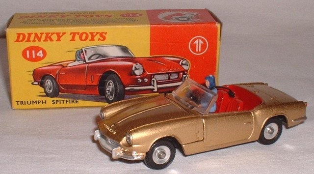 Dinky 114 Triumph Spitfire Free Price Guide Review