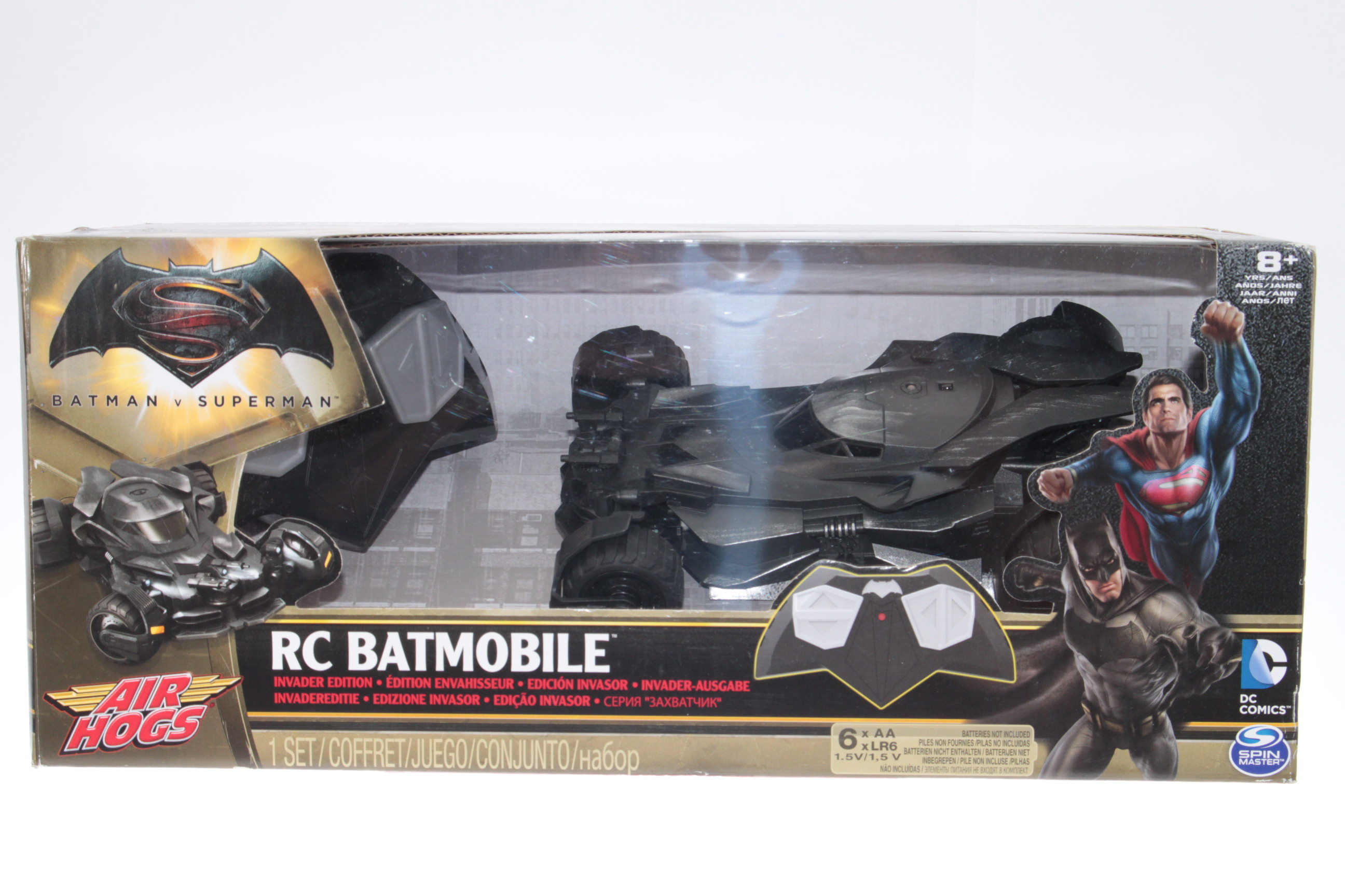 Justice League Ultimate Batmobile RC Vehicle /& Figure Standard Packaging