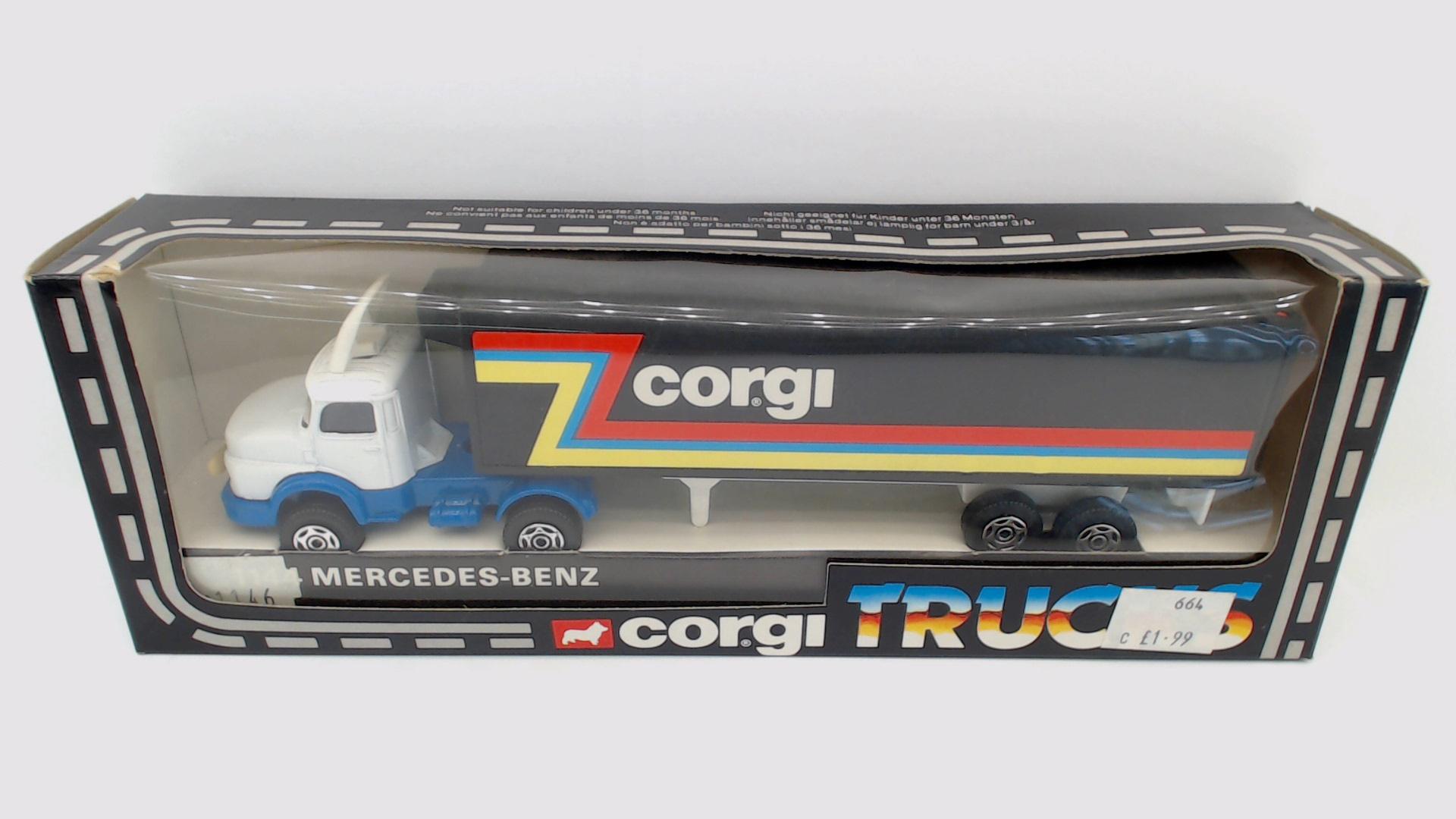 Corgi 1146, Mercedes Truck - Free Price Guide & Review