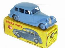 Dinky Toys 151 Triumph 1800 Saloon Fawn empty Reproduction box