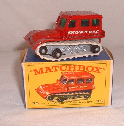 MATCHBOX 1//75 NO 35 SNOW TRAC REPLACEMENT WHITE TRACKS