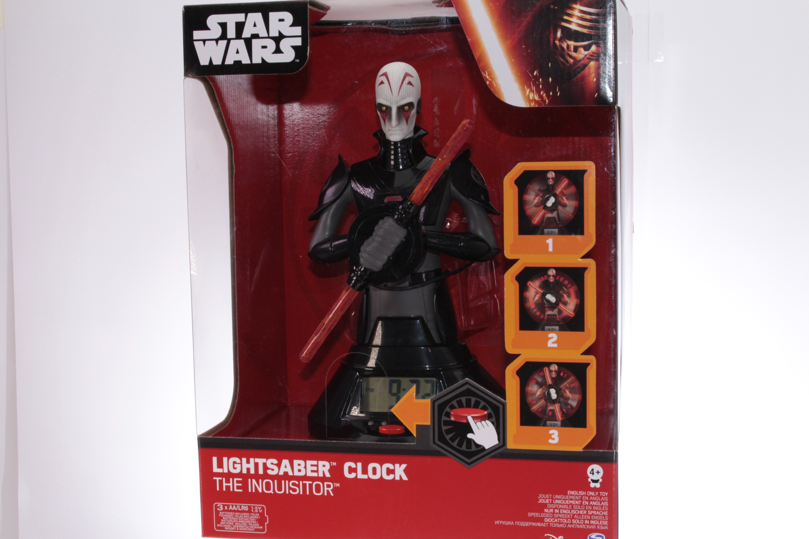 Picture Gallery for Disney 20071536 The Inquisitor - Lightsaber Clock