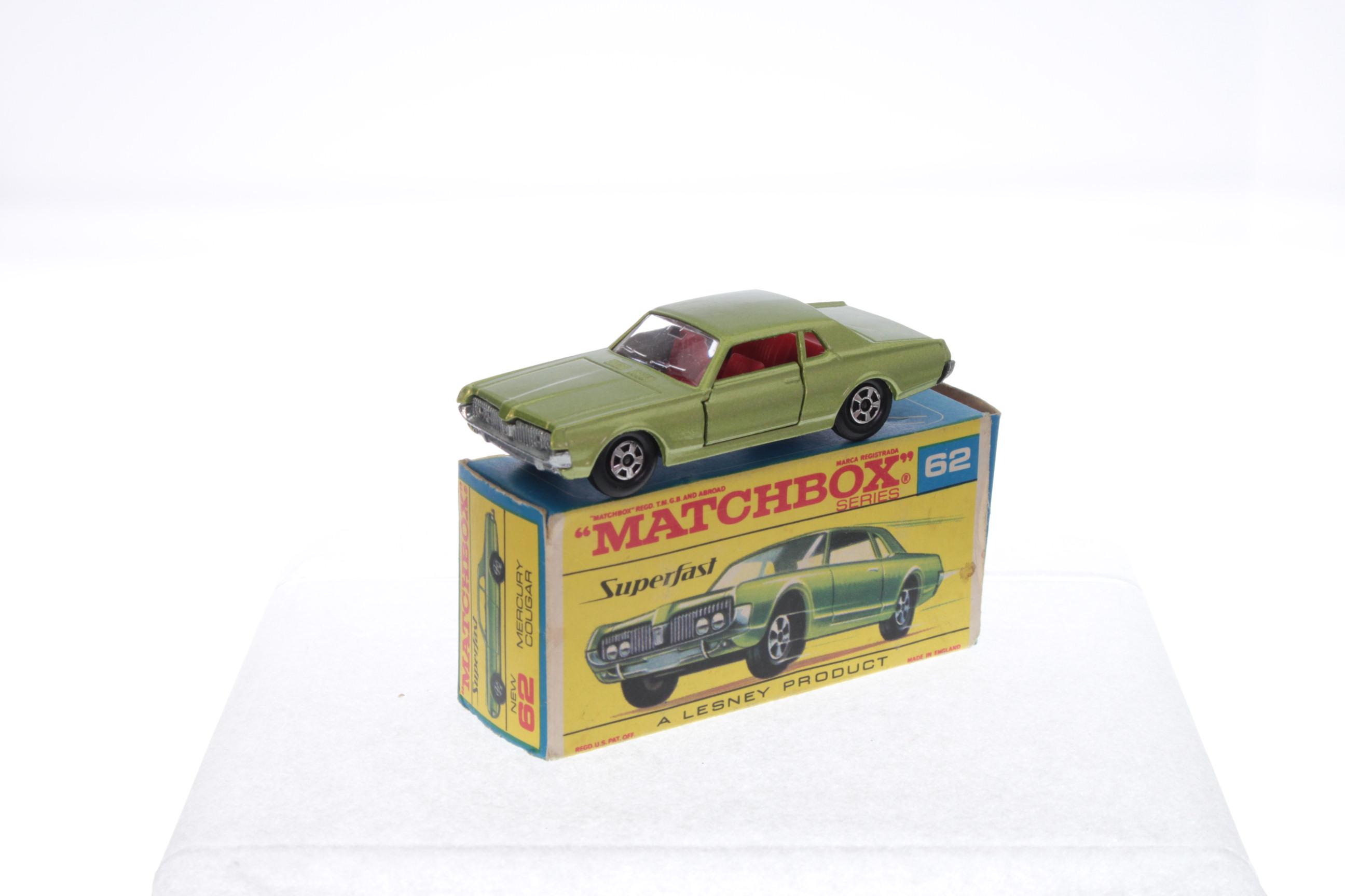 "G-box Matchbox Superfast /""Mercury Cougar dragster/"" 62b nuevo"